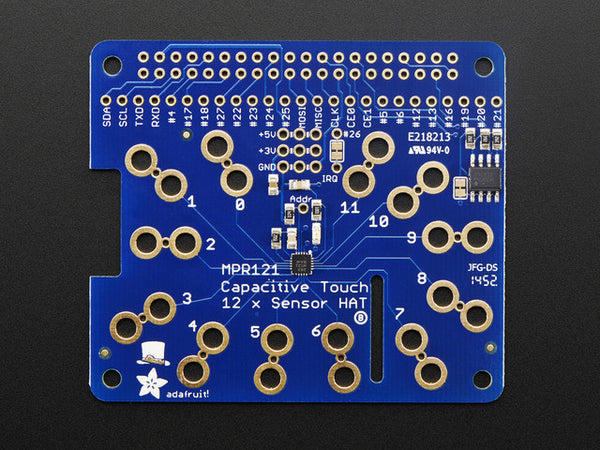 Adafruit Capacitive Touch HAT for Raspberry Pi - Mini Kit