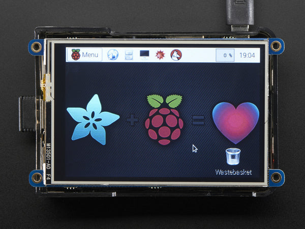 "PiTFT Plus 480x320 3.5"" TFT+Touchscreen for Raspberry Pi - Pi 2 and Model A+ / B+"