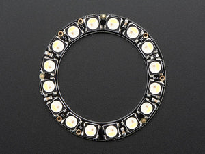NeoPixel Ring - 16 x 5050 RGBW LEDs w/ Integrated Drivers - Cool White - ~6000K
