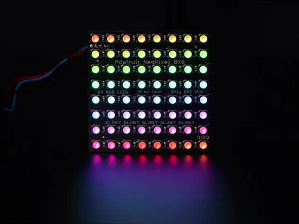 Adafruit NeoPixel NeoMatrix - 64 RGBW - Warm White