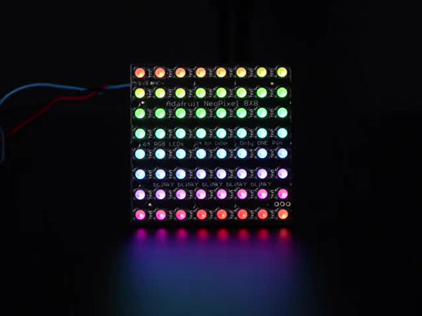 Adafruit NeoPixel NeoMatrix - 64 RGBW - Cool White