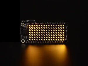 Adafruit 15x7 CharliePlex LED Matrix Display FeatherWing Yellow