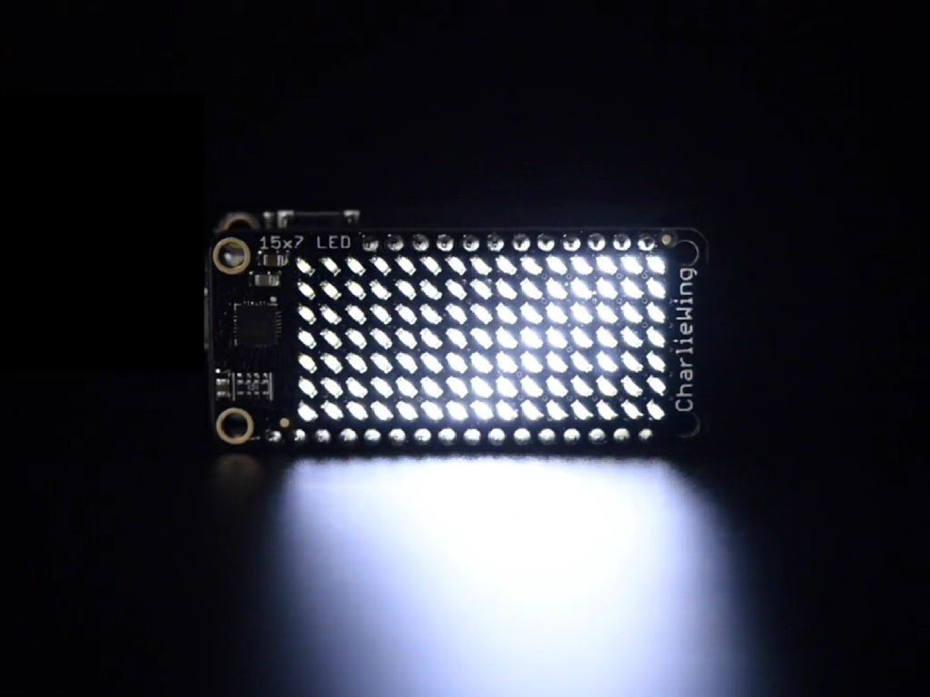Adafruit 15x7 CharliePlex LED Matrix Display FeatherWing - White