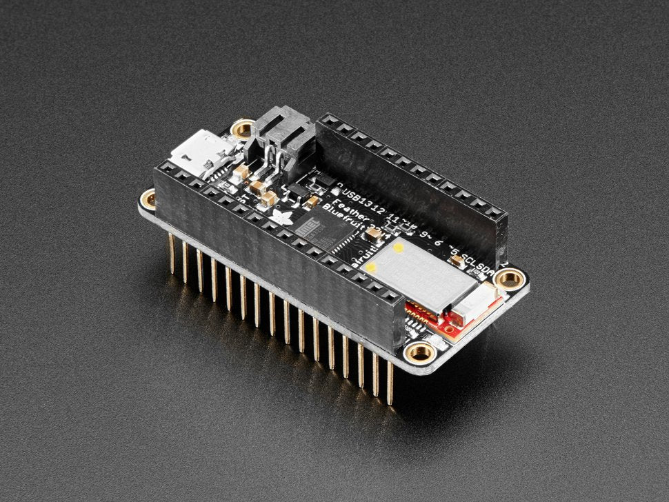 Adafruit Feather 32u4 Bluefruit LE with Stacking Headers - Assembled