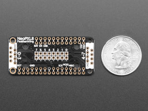 Adafruit NeoPXL8 FeatherWing for Feather M0 - 8 x DMA NeoPixels!