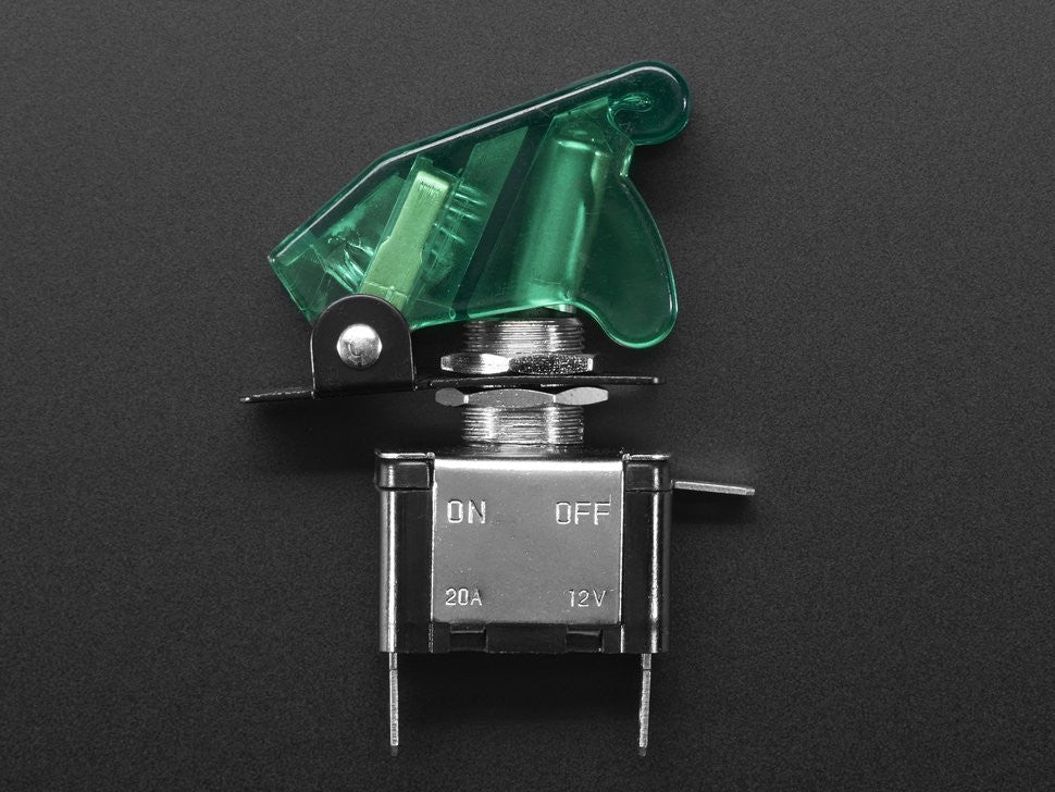 LED Fighter Jet Switch GREEN