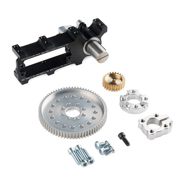 Channel Mount Gearbox Kit - 360° Rotation (2:1 Ratio)