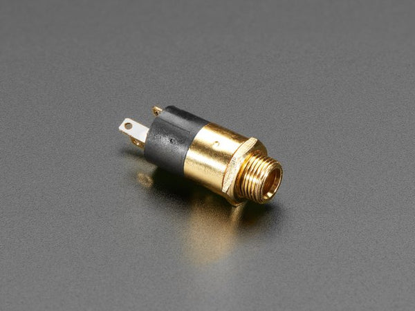 Panel Mount 1/8 / 3.5mm TRS Audio Jack Connector