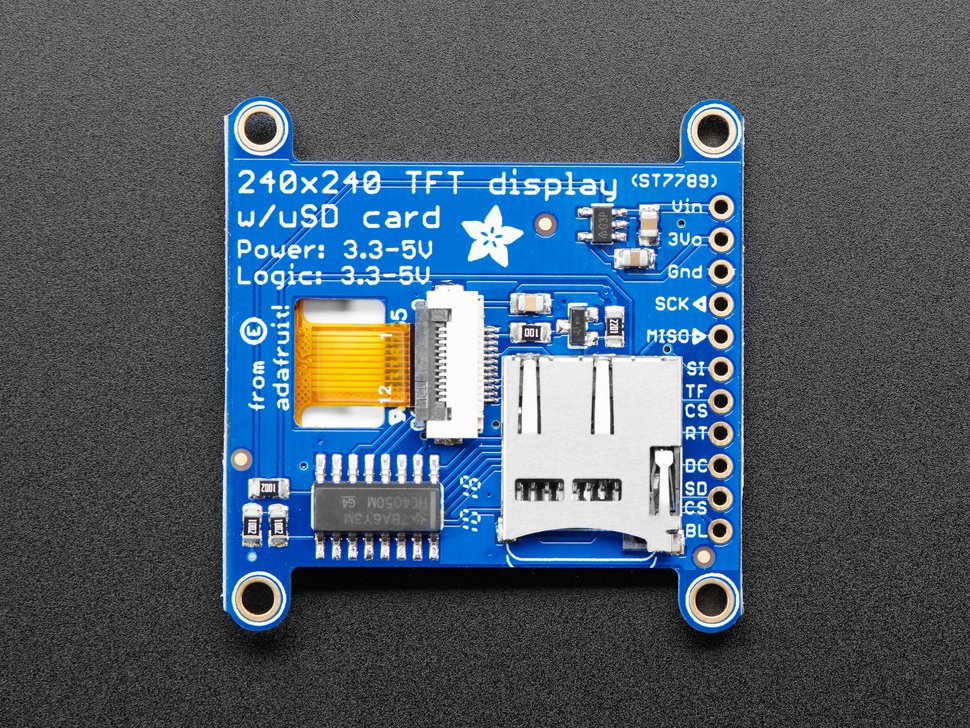 Adafruit 1 54 240x240 Wide Angle TFT LCD Display with MicroSD - ST7789