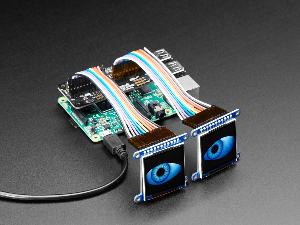 Adafruit Animated Eyes Bonnet for Raspberry Pi Pack - Pi not included