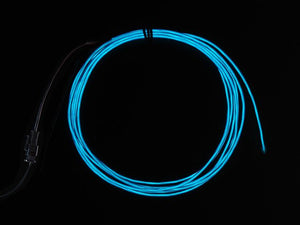 High Brightness Blue Electroluminescent (EL) Wire - 2.5 meters