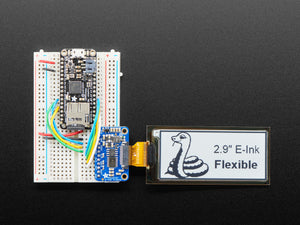 "2.9"" Flexible Monochrome eInk / ePaper Display - 296x128 Monochrome"