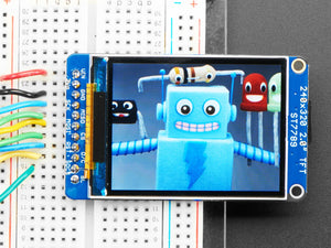 "2.0"" 320x240 Color IPS TFT Display with microSD Card Breakout"