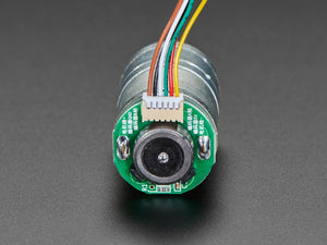Geared DC Motor with Magnetic Encoder Outputs - 7 VDC 1:20 Ratio