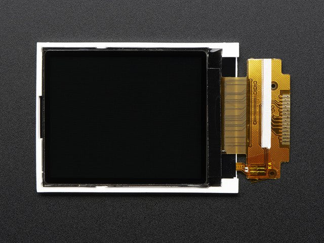 "1.8"" SPI TFT display, 160x128 18-bit color - ST7735R driver"