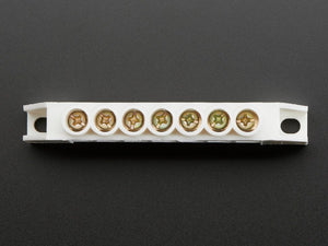 Power Distribution Bus - 7 x 6mm diameter solid brass