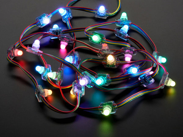 12mm  Diffused Flat Digital RGB LED Pixels (Strand of 25)