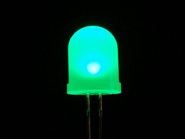 Diffused Green 10mm LED (25 pack)