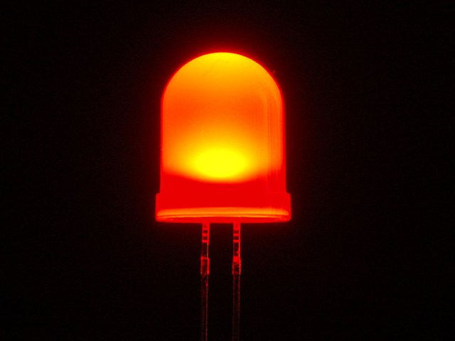 Diffused Red 10mm LED (25 pack)