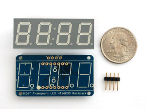 "Adafruit 0.56"" 4-Digit 7-Segment Display w/I2C Backpack - Blue"