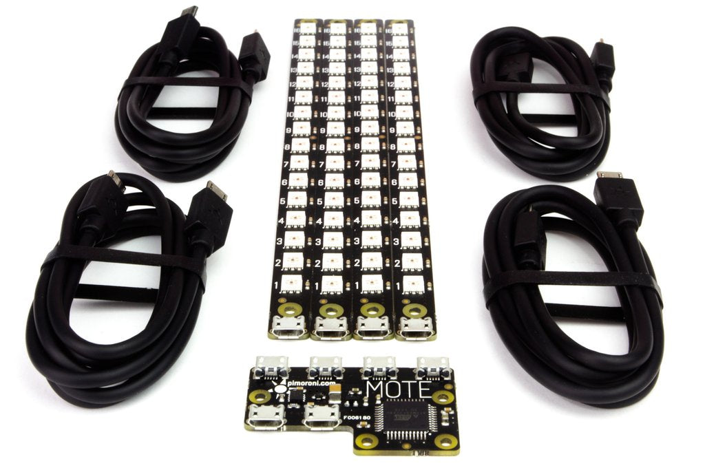 Pimoroni Mote - Complete Kit (Host + 4 Sticks + Cables)