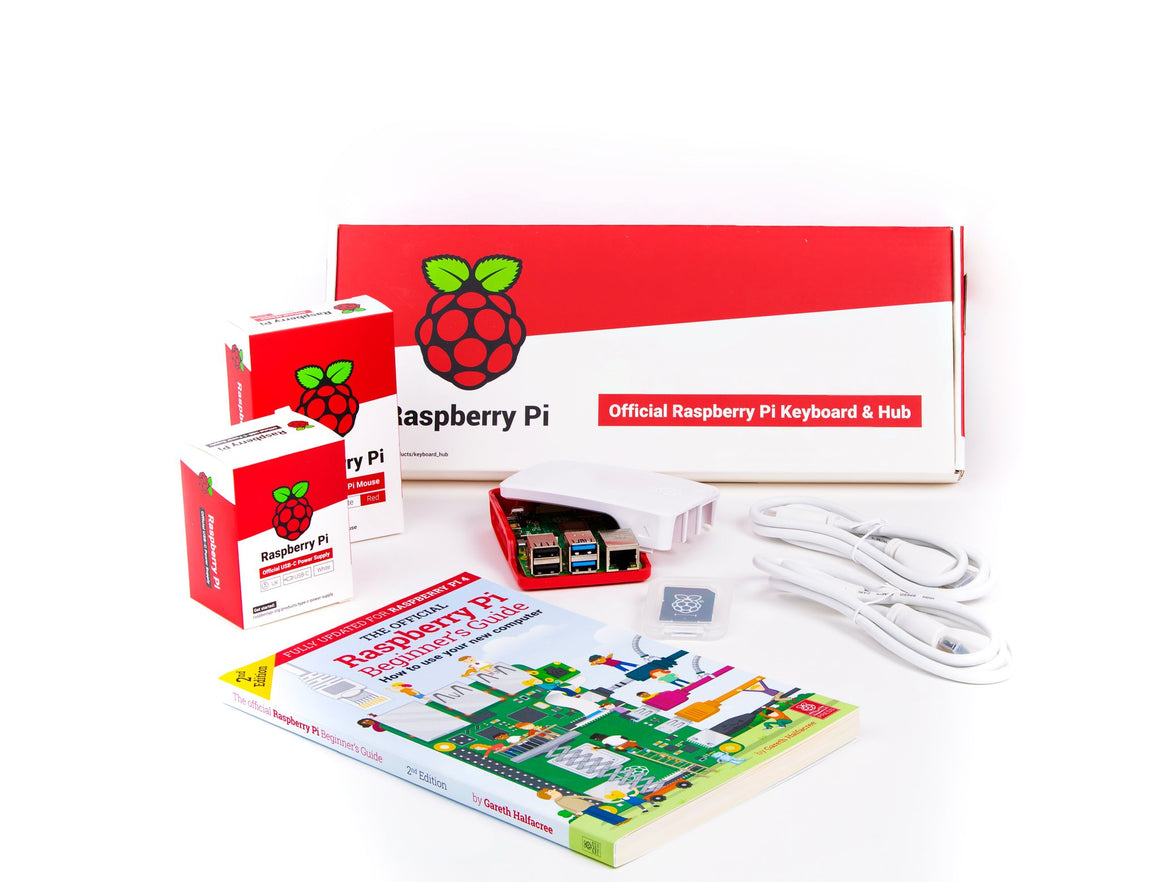 Raspberry Pi 4 Desktop Kit with Pi 4 4GB