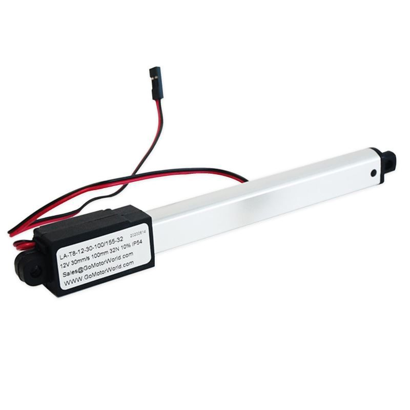 12V Micro Linear Actuator 100mm Stroke 32N