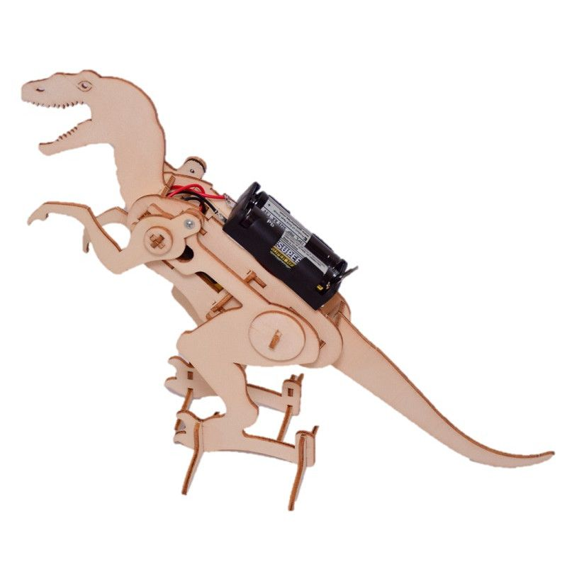 DIY Wooden Robotic Dinosaur (with Batteries)