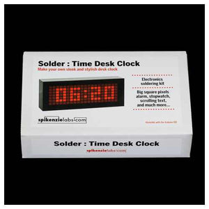 Solder : Time Desk Clock Kit from Spikenzie Labs