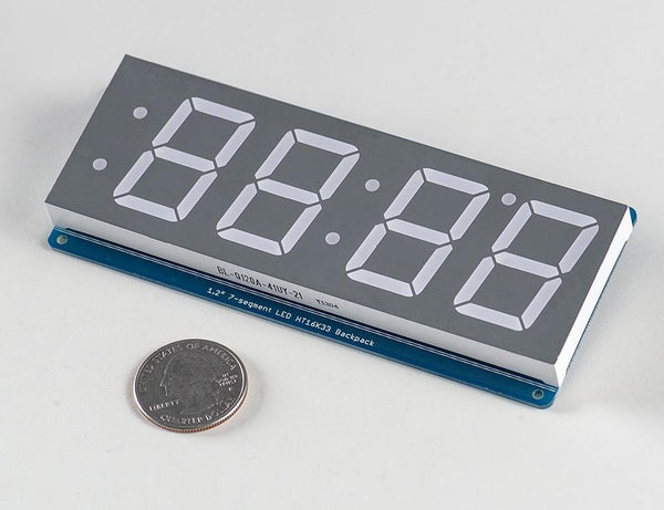 "Adafruit 1.2"" 4-Digit 7-Segment Display w/I2C Backpack - Red"