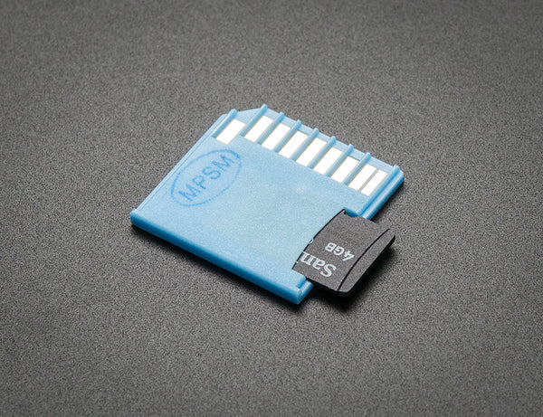 Shortening microSD card adapter for Raspberry Pi & Macbooks