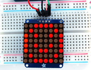 "Adafruit Small 1.2"" 8x8 LED Matrix w/I2C Backpack - Red or Green"