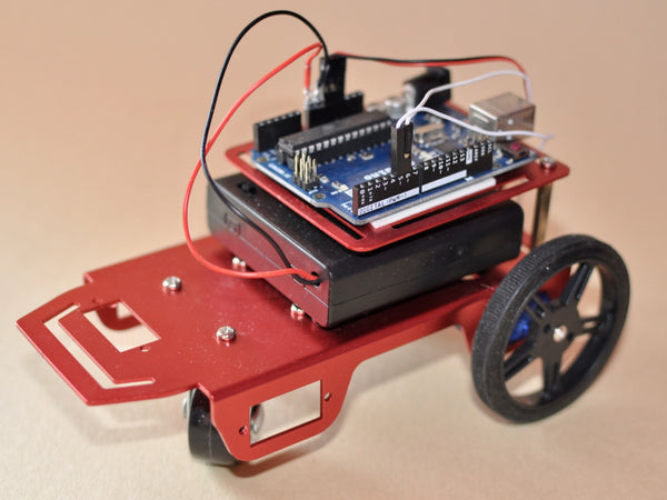 Red Rover Robot Chassis Kit with DC Motors and Motor Controller