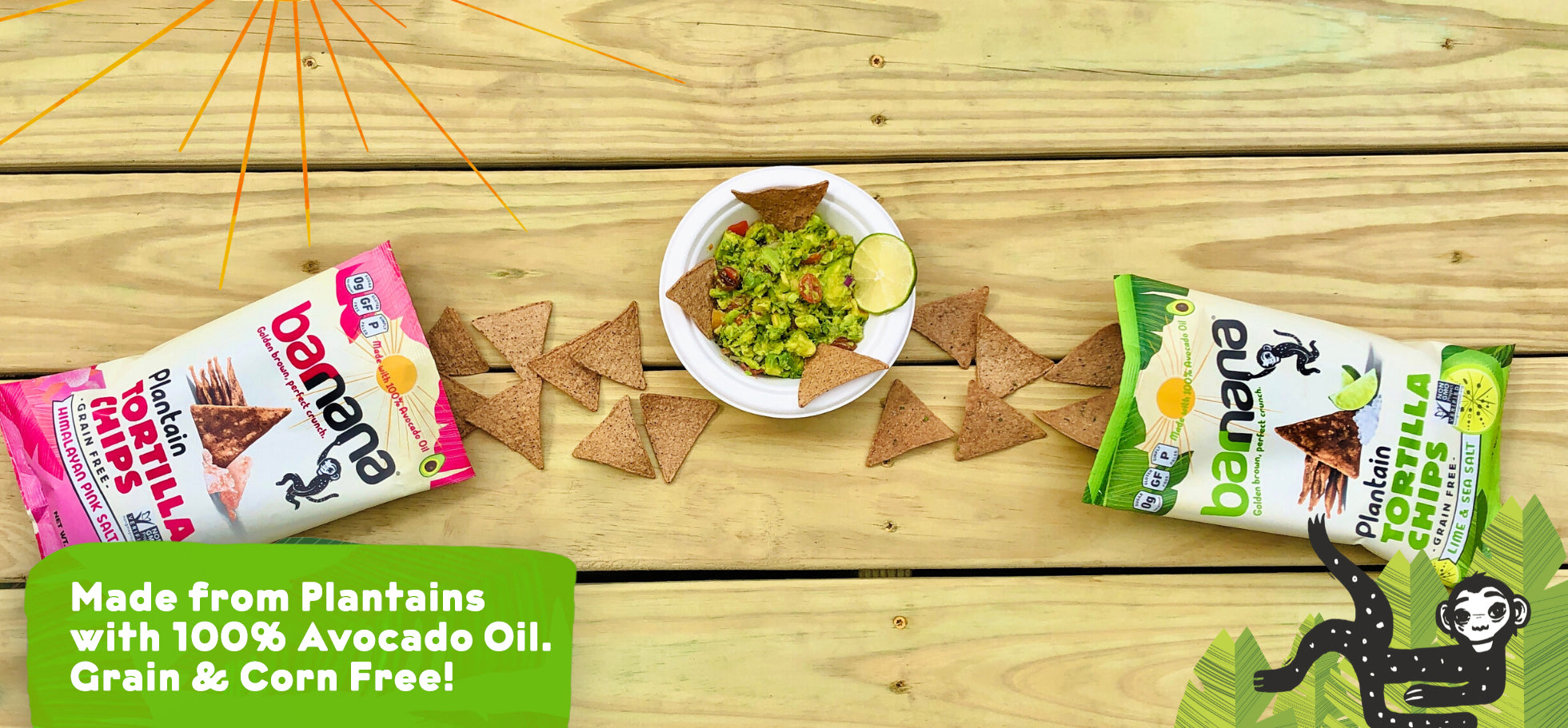 grain free tortilla chips - barnana plantain based