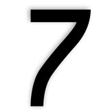 Number 7 SEVEN Caviar Font Acrylic Mirror or Black Acrylic Door Sign