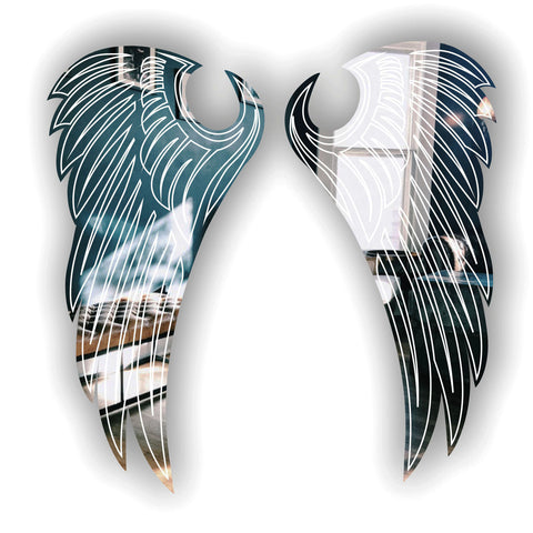Angel Wings Engraved Acrylic Mirror