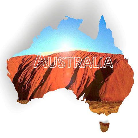 Outline Map of Australia Acrylic Mirror