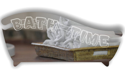 Bath Tub Bathroom Bath Time Wall or Door Sign
