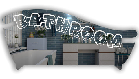 Bath Tub Bathroom Wall or Door Sign