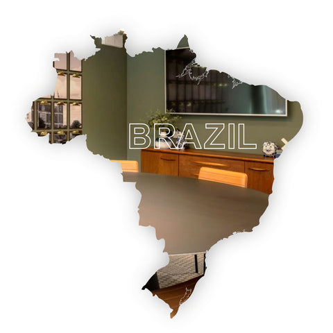 Outline Map of Brazil Acrylic Mirror