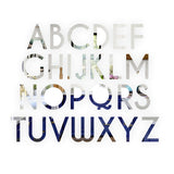 Alphabet letter Caviar Font Acrylic Mirror or Black Acrylic Door Sign - S