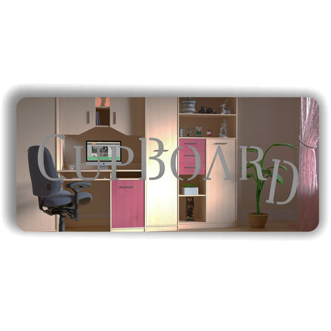 Cupboard Acrylic Mirrored Door Sign