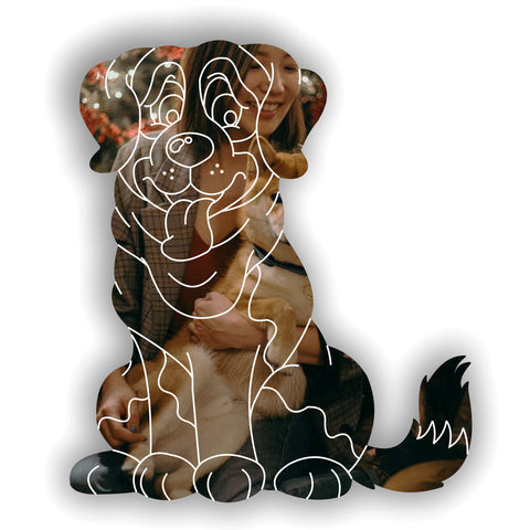 Cute Saint Bernard Dog Acrylic Mirror