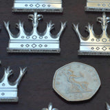 Fleur De Lis Tipped Crown Mini Craft Sized Acrylic Mirrors (10Pk) - Suave Petal