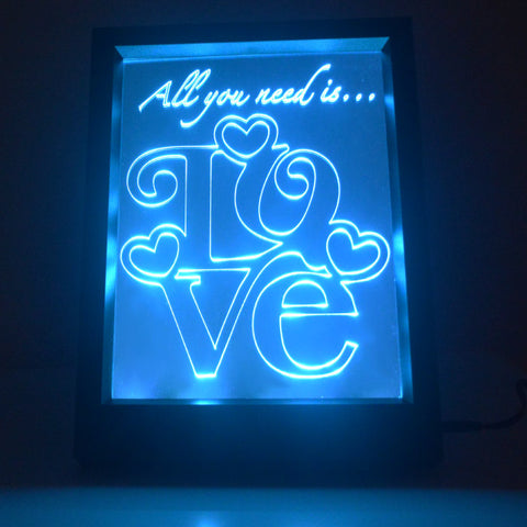 lighting frames. Square Love Text Quote Colour Changing RC LED Mirror Light Frame Lighting Frames