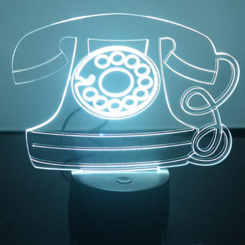 Old Fashioned Telephone Colour Changing LED Acrylic Light - Suave Petal