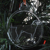 Dog Bauble Clear Acrylic Christmas Decorations 6pk - Working Labrador - Suave Petal