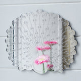 Peacock Displaying Fan Tail Feathers Engraved Acrylic Mirror - Suave Petal