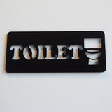 Toilet Chunky Text /Loo /Lavatory Acrylic Black Door Sign - Suave Petal