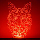 Decorative Wolf Head LED Acrylic Light - Suave Petal